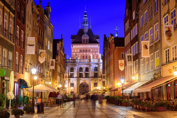 Golden Gate in the old town of Gdansk, Poland