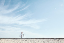 Girl Enjoying Bike Ride Under ...