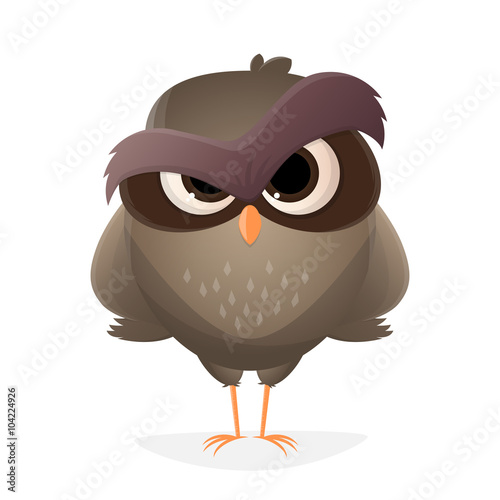 Canvas Prints Owls cartoon eule cartoon vogel lustig