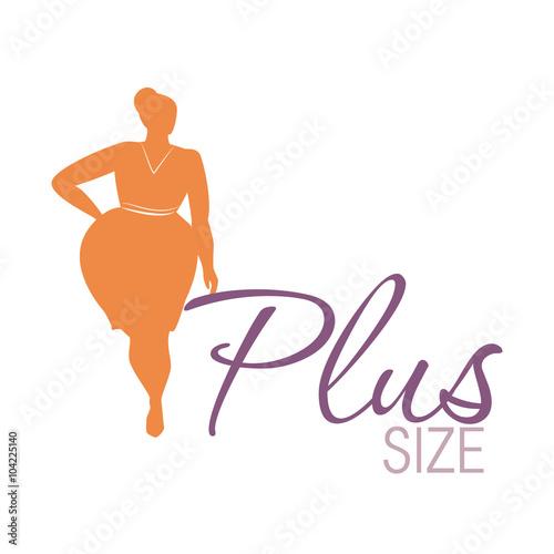 Photo  Plus size woman icon
