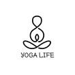 Vector minimalistic yoga logotype. Health logo