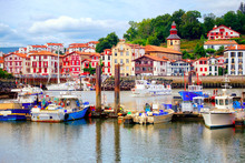 Colorful Basque Houses In Port...