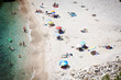 Beach holiday concept. Top view of beach
