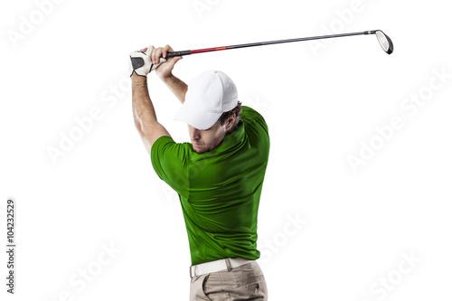 Deurstickers Golf Golf Player