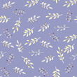 Watercolor seamless green leaves pattern.