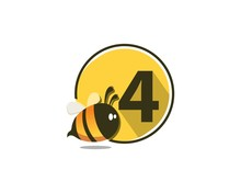 4 Number Natural Cute Bee