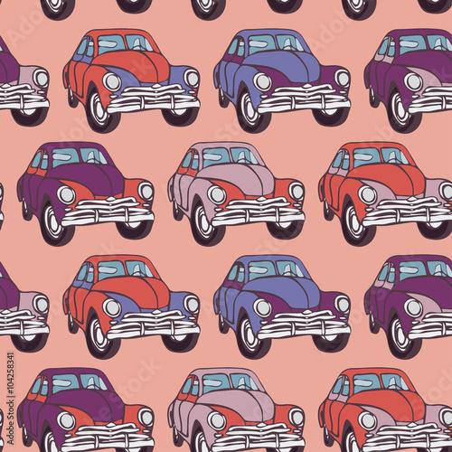 wzor-samochodu-bez-szwu-naszkicowac-rozowy-liliowy-fioletowy-wektor