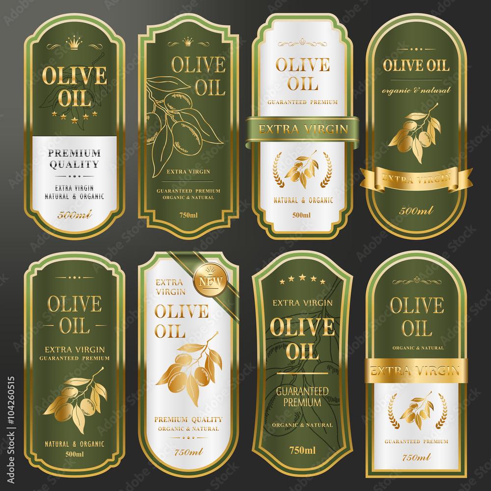 Fototapety, obrazy: golden labels collection set
