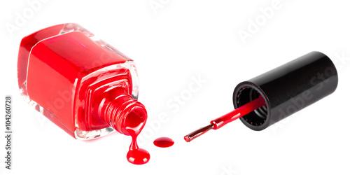 Fotografia red nail polish