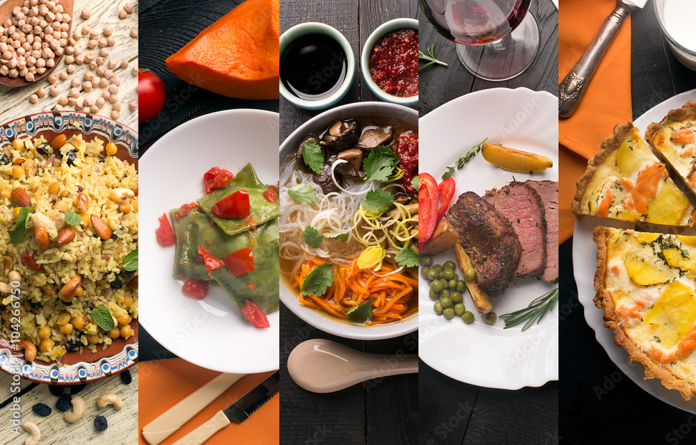 Fototapety, obrazy: Cuisine of different countries