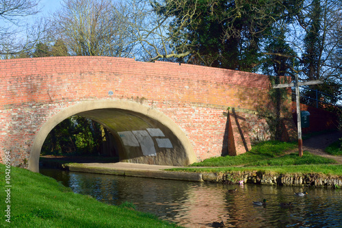 Recess Fitting Channel Bridge over the Grand Union Canal at Woughton-on-the-Green, Buck