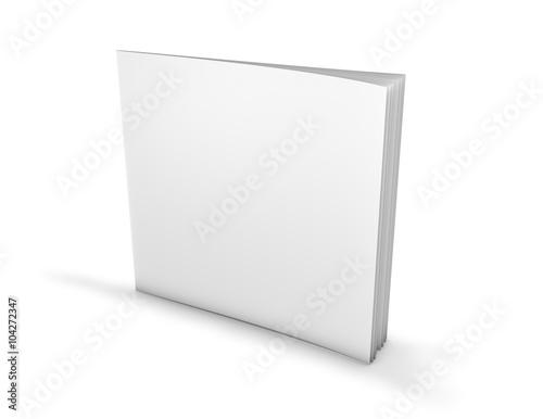 Fotografia  Square paperback, brochure with blank cover.