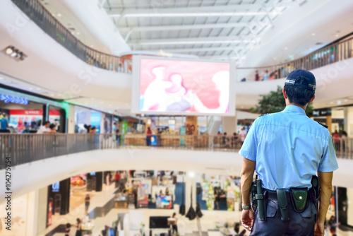 Fotografía  Servicio de seguridad en el centro comercial
