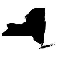 New York Black Map On White Ba...