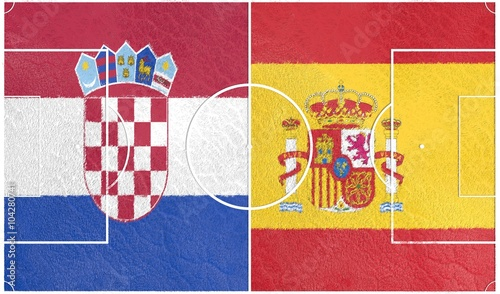Photo  Flags of  European countries participating to the final tournament of Euro 2016 football championship