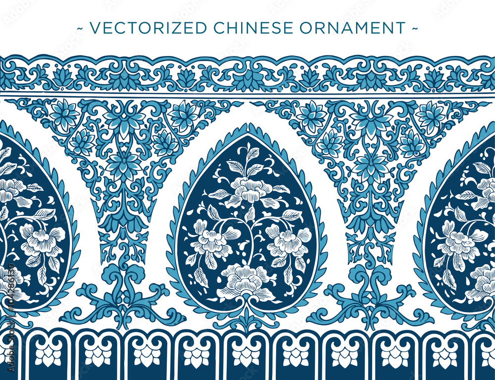 Vecorized Chinese ornament