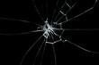 Leinwandbild Motiv Broken glass on black background