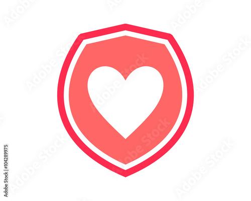 Fotografie, Obraz Love Pink Shield