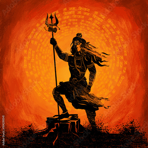 Fototapeta Lord Shiva Indian God of Hindu