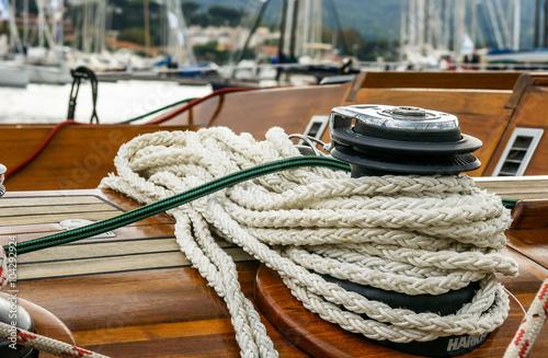 Fotografiet  Cordage de bateau