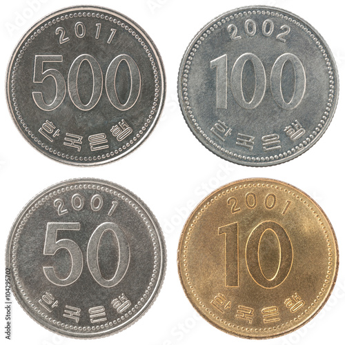Fotomural  Set coin korean won