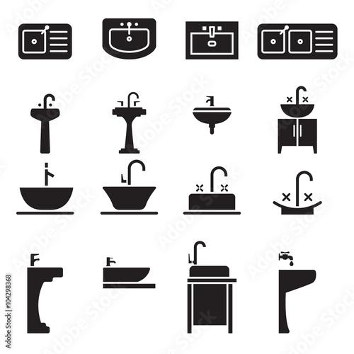 Fotografía  Sink icon set