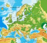 Fototapeta Młodzieżowe - Europe - physical map