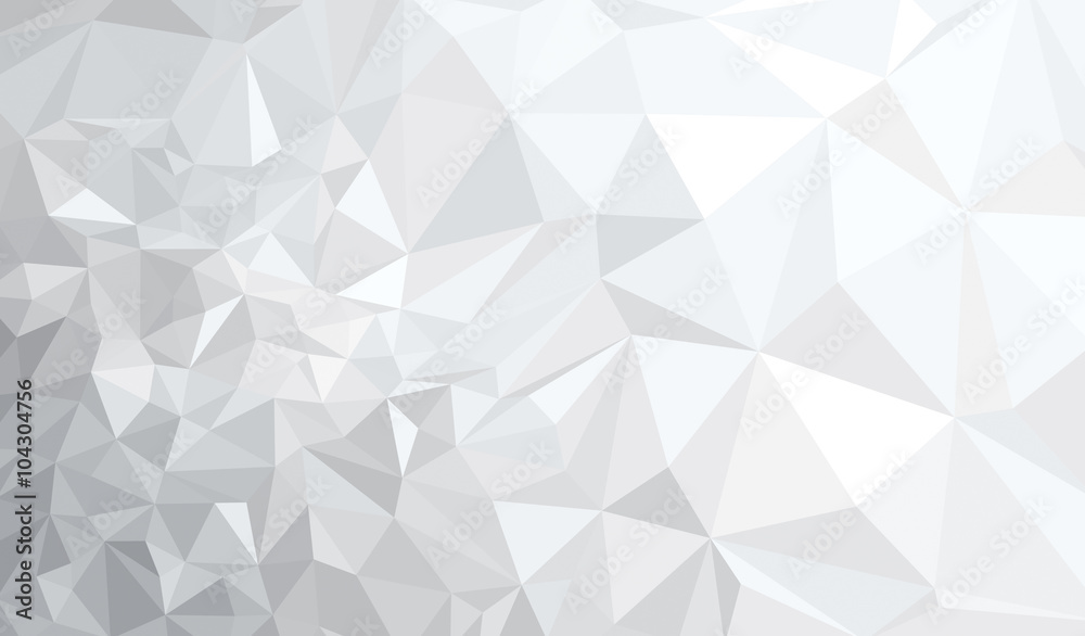 Fototapeta Vector abstract gray, triangles background.