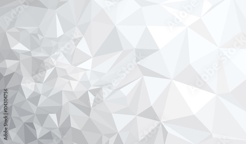 Fototapeta Vector abstract gray, triangles background. obraz