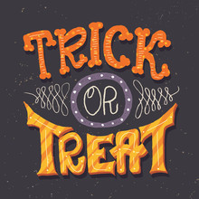 Trick Or Treat Hand Lettering ...