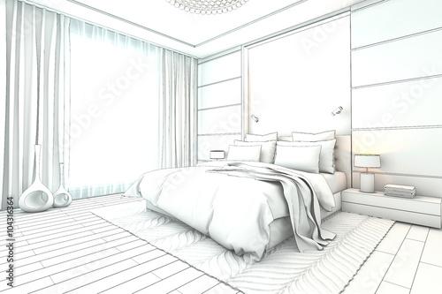 architectural sketch interior modern bedroom design , Buy