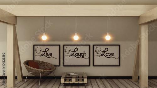 Live, Laugh, Love Wallpaper Mural
