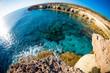 Sea caves near Cape Greco. Ayia Napa, Cyprus