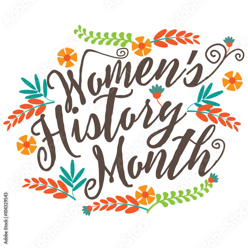 Foto  Women's history month design. EPS 10 vector