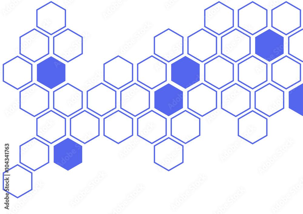 Fototapety, obrazy: hexagon background pattern