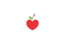 Apple Fruit And Heart Symbols ...