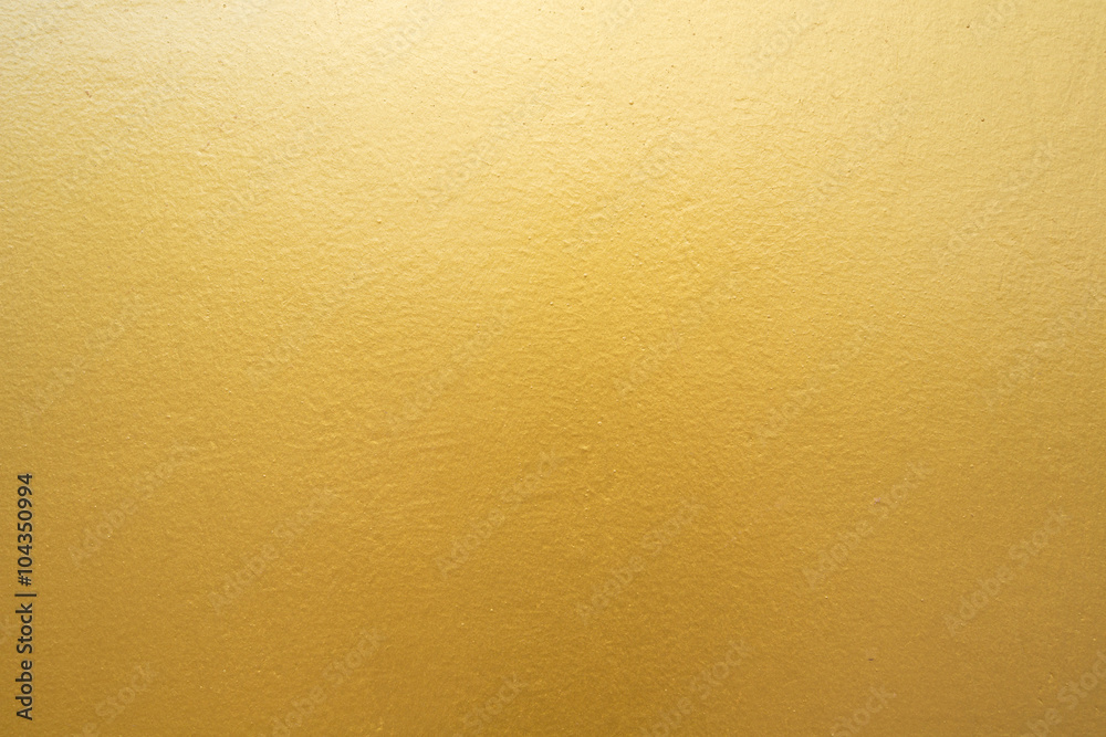 Fototapety, obrazy: Gold concrete wall on background texture.