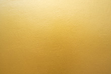 Gold Concrete Wall On Backgrou...