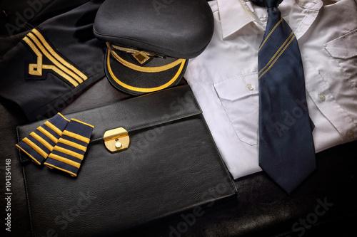 Pilot uniform Fototapet