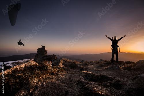 Foto op Plexiglas Alpinisme Sport extrême
