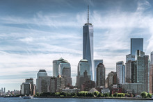 Skyline Of Lower Manhattan Of ...