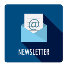 NEWSLETTER Vector Flat Style Web Button