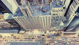 Archiwalne zdjęcie nowojorskich ulic z dachu - 104373389