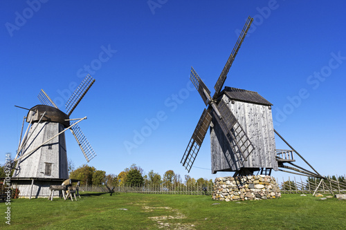 Door stickers Mills Angla Windmill Hill on Saaremaa Island in Estonia