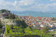 Panoramic view of the old town in Nafplio, Greece.