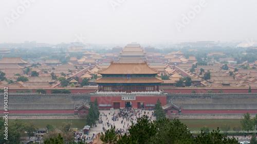Papiers peints Pékin Forbidden city in Beijing viewed from Jinshan Park