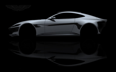 Fahrzeugdesign Karosserie eines Sportwagens aus Aluminium