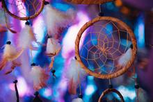 Dream Catcher On The Bright Multicolored Background