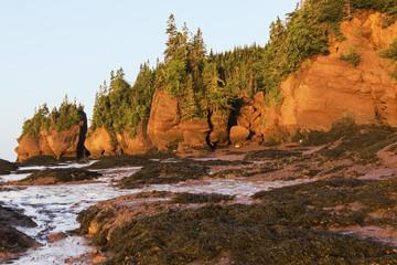 Hopewell Rocks in Canada at sunrise