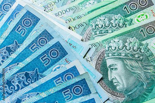 Fotomural Polish money bills